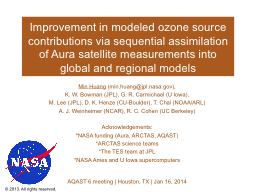 Improvement in modeled ozone source contributions via seque
