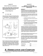 MCRT TORQUE TRANSMITTER INSTALLATION OPERATION AND TROUBLESHOOTING GUIDE with WARRANTY STATEMENT REVISION A PATENT NOTICE Himmelstein torque measurement products are manufactured under one or more of