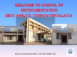 Welcome to School of Instrumentation