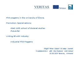 PhD programs in the University of Girona. PowerPoint PPT Presentation