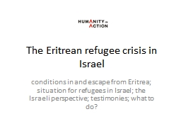 The Eritrean refugee crisis in Israel PowerPoint PPT Presentation