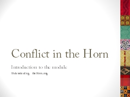 Conflict in the Horn PowerPoint PPT Presentation