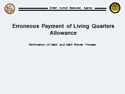 Erroneous Payment of Living Quarters Allowance