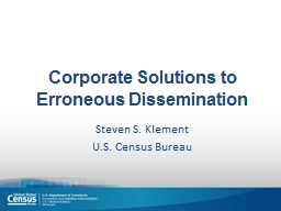 Corporate Solutions to Erroneous Dissemination