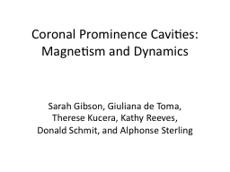 Coronal Prominence Cavities: Magnetism and Dynamics