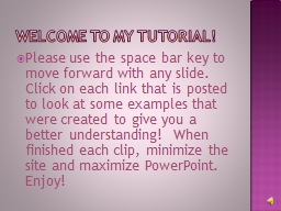 Welcome to my tutorial!