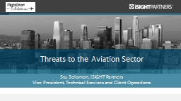 Threats to the Aviation Sector