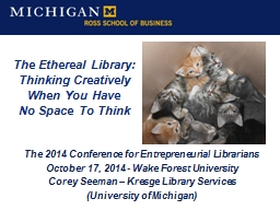 The Ethereal Library: Thinking Creatively PowerPoint Presentation, PPT - DocSlides