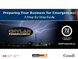 Preparing Your Business for Emergencies: PowerPoint PPT Presentation