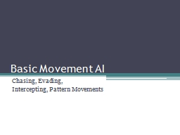 Basic Movement AI