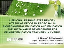 LIFELONG LEARNING EXPERIENCES: