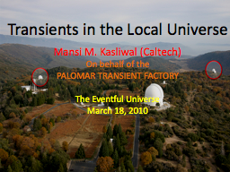 Transients in the Local Universe
