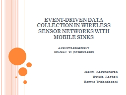 EVENT-DRIVEN DATA COLLECTION IN WIRELESS SENSOR NETWORKS WI