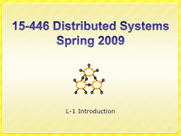 15-446 Distributed Systems PowerPoint PPT Presentation