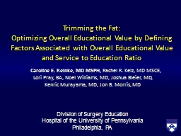 Trimming the Fat: PowerPoint PPT Presentation