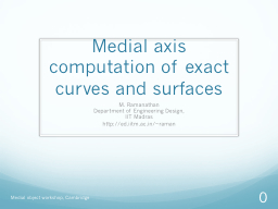 Medial axis computation of exact curves and surfaces
