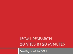 Legal research: