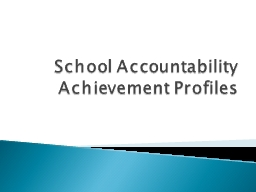 School Accountability Achievement Profiles