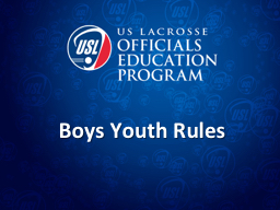 Boys Youth Rules