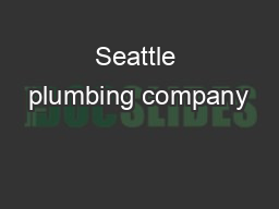 Seattle plumbing company