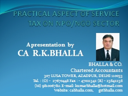 PRACTICAL ASPECT OF SERVICE TAX ON