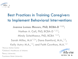 Best Practices in Training Caregivers to Implement Behavior