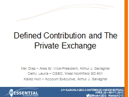 Defined Contribution and The Private Exchange