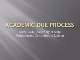 Academic due process PowerPoint PPT Presentation