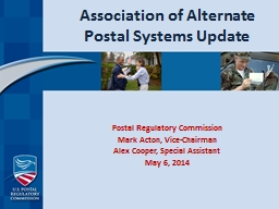 Association of Alternate Postal Systems Update PowerPoint PPT Presentation