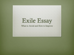 Exile Essay PowerPoint PPT Presentation