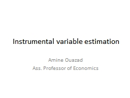 Instrumental variable estimation