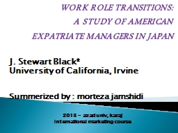 WORK ROLE TRANSITIONS PowerPoint PPT Presentation