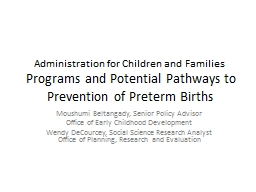 Administration for Children and Families PowerPoint PPT Presentation