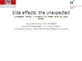 Side effects: the unexpected PowerPoint PPT Presentation