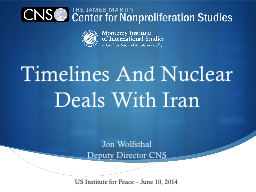 Timelines And Nuclear Deals With Iran PowerPoint PPT Presentation