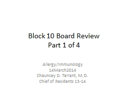 Block 10 Board Review