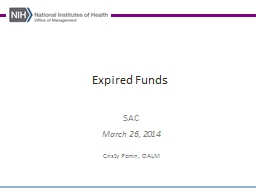 Expired Funds