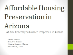 Affordable Housing Preservation in Arizona