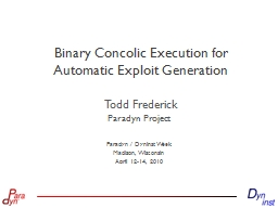 Binary Concolic Execution for Automatic Exploit Generation