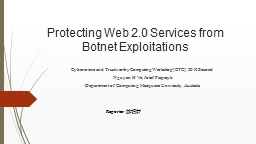Protecting Web 2.0 Services from Botnet Exploitations