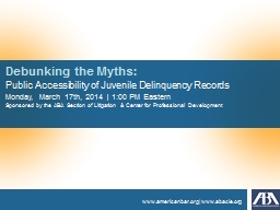 Debunking the Myths: