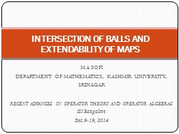 INTERSECTION OF BALLS AND EXTENDABILITY OF MAPS