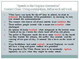 """""""Speech in the Virginia Convention"""""""