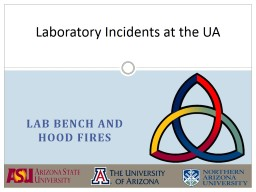 Lab Bench and Hood fires