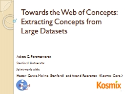 Towards the Web of Concepts: Extracting Concepts from Large PowerPoint PPT Presentation