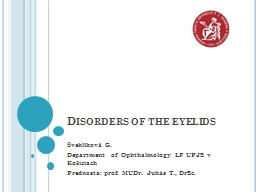 Disorders PowerPoint PPT Presentation