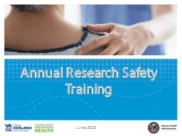 Annual Research Safety Training