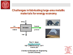 Challenges in fabricating large-area metallic materials for