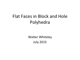 Flat Faces in Block and Hole