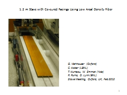 1.2 m Stave with Co-cured Facings Using Low Areal Density F